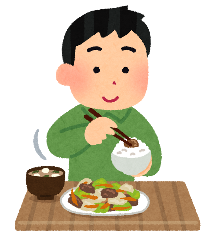 お昼は自宅で食べます